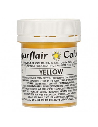 Colorante para Chocolate Amarillo Sugarflair