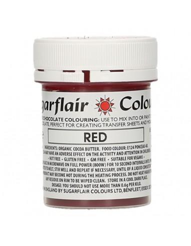 Colorante para Chocolate Rojo Sugarflair