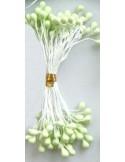 Estambres para flores perlados verde