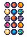 Papel de azúcar Planetas para galletas