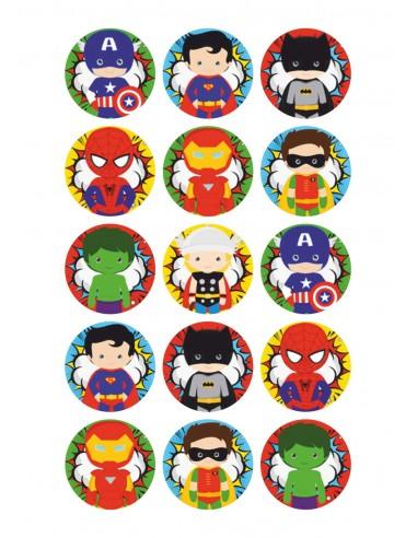 Papel de azúcar de Superhéroes niños para galletas