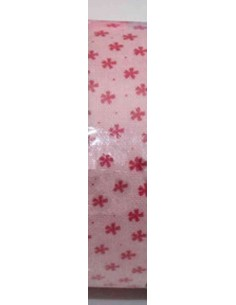 Fabric tape rosa palo con estrellas rojas