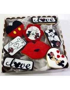 Caja galletas Mickey y Minnie Amor