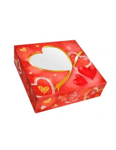 Caja para tarta corazones 28 cm