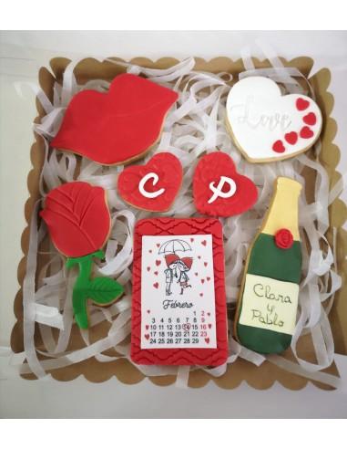 Caja galletas Love San Valentín
