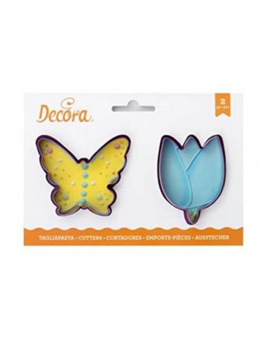 Set 2 Cortadores mariposa y tulipán