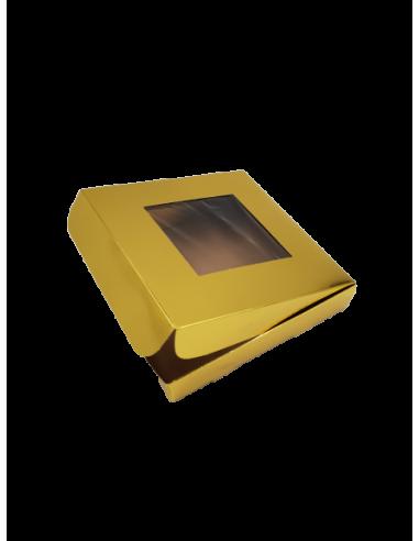 Caja para galletas dorada