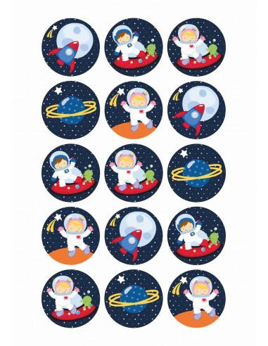 Papel de azúcar astronautas infantil para galletas