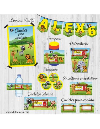 Kit de fiesta personalizado Animales