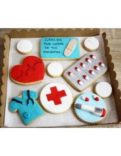 Caja galletas Médicos