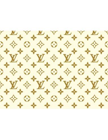 Papel de azúcar Louis Vuitton blanco