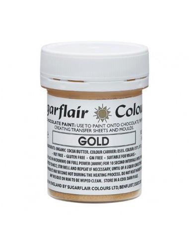 Pintura para Chocolate Oro Sugarflair
