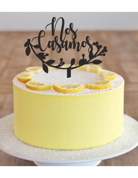 Topper para tarta Nos Casamos