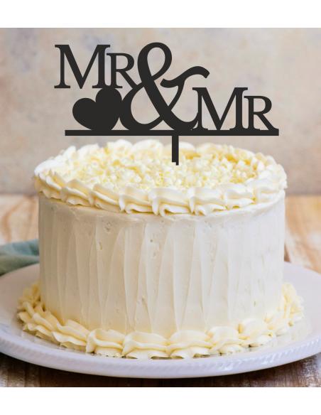 Topper para tarta Mr & Mr