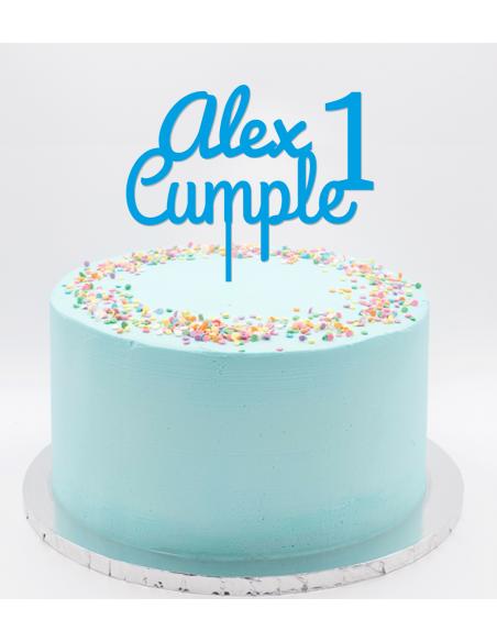 Topper cake nombre cumple edad