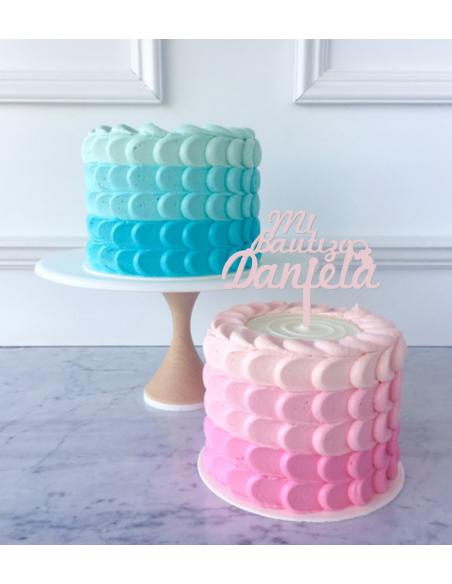 Topper para tarta Mi Bautizo personalizado