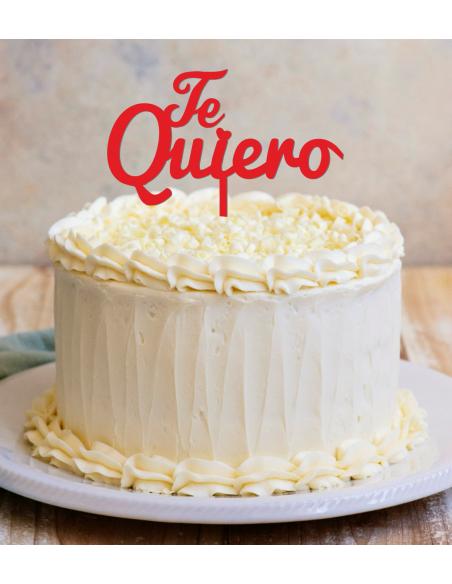 Topper cake Te quiero