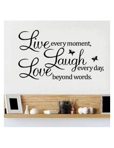Vinilo de decoración live, laugh, love...