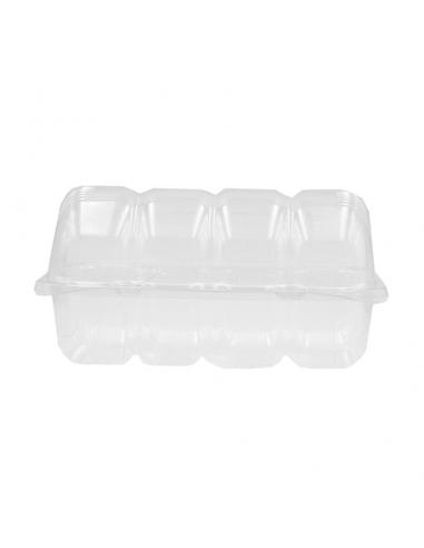 Caja para 4 donuts de plástico