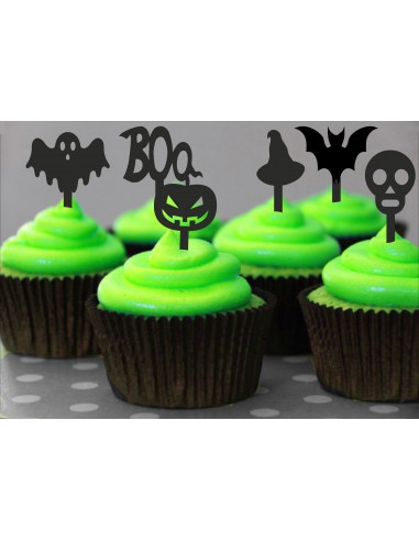 Mini Toppers Halloween para Cupcakes
