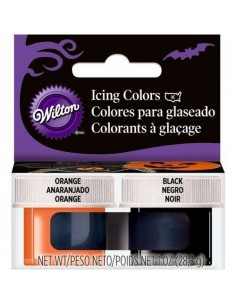 Wilton Kit Colorantes ¨Halloween¨ Naranja y Negro