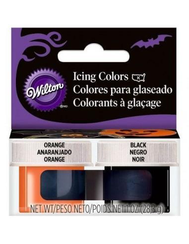 Wilton Kit Colorantes ¨Halloween¨ Naranja y Negro