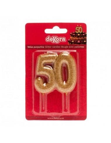 Vela 50 purpurina oro