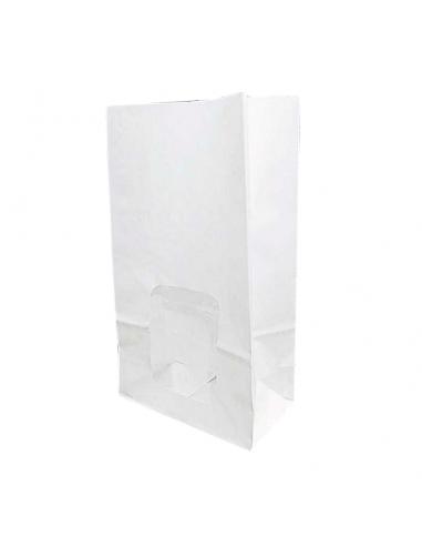 bolsas blancas de papel con ventana