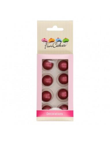 Bolas de chocolate rubí