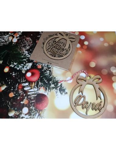 Bola árbol navidad personalizada