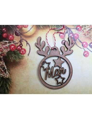 Bola árbol navidad personalizada reno