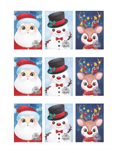 Papel azúcar dibujos Navidad