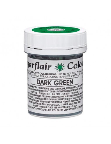 Colorante para Chocolate Verde Oscuro Sugarflair