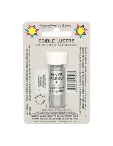Colorante en Polvo Plata Sparkle Sugarflair