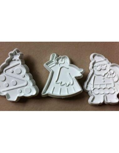 Set de 3 cortadores marcadores de navidad