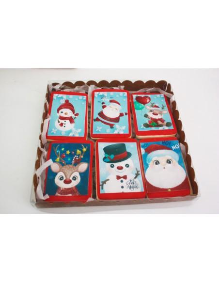 Caja galletas rectangulares Navidad