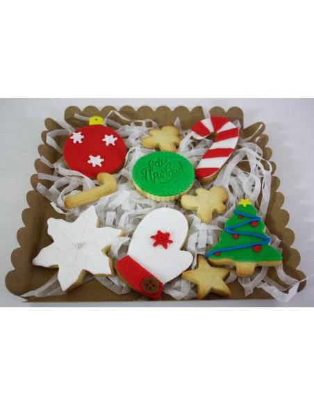 Caja galletas navideñas variadas