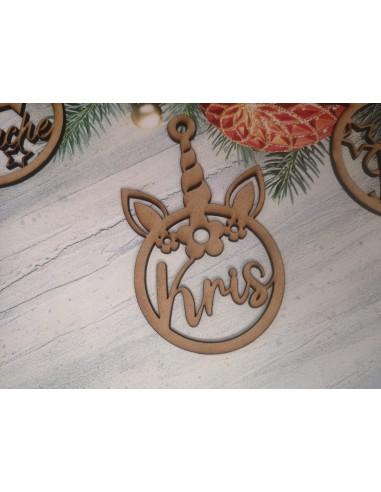 Bola Navidad Unicornio personalizada
