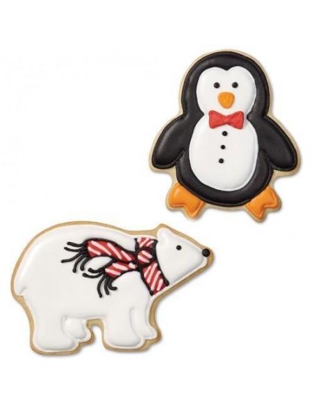 Set 3 Cortadores Pingüino, Globo de Nieve, Oso, Wilton