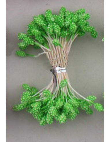 Estambres granulados 5mm verde