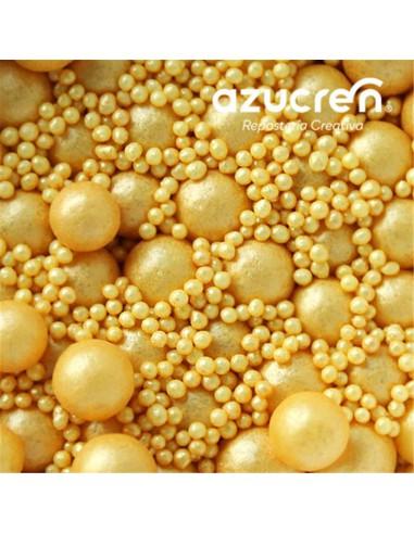Surtido perlas 7 mm + mini perlas doradas