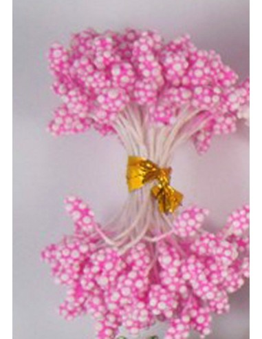 Estambres granulados 5mm rosa
