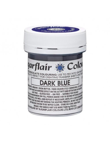 Colorante para Chocolate Azul Oscuro Sugarflair