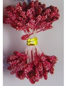 Estambres granulados 5mm rojo apagado
