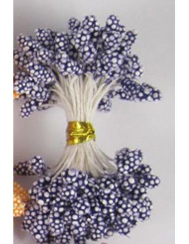 Estambres granulados 5mm azul oscuro