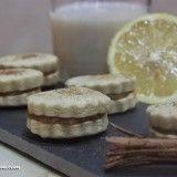 Galletas de limón con crema de horchata