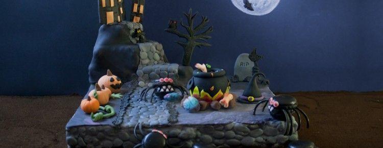 Macarons de araña. Halloween (1)