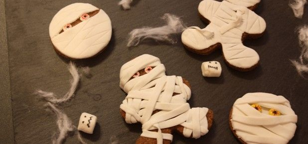 Momias de jengibre Halloween