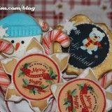 Galletas navideñas con papel de azúcar