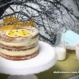 Naked cake de chocolate y naranja